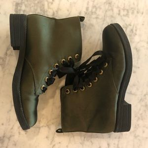 Satin Dirty Laundry Lace Up Boots